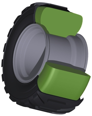 how to cut a tractor tire in half