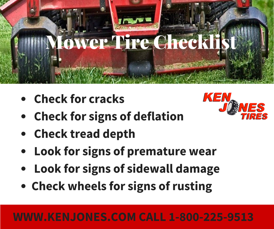 Lawn Mower Tire Maintenance Checklist
