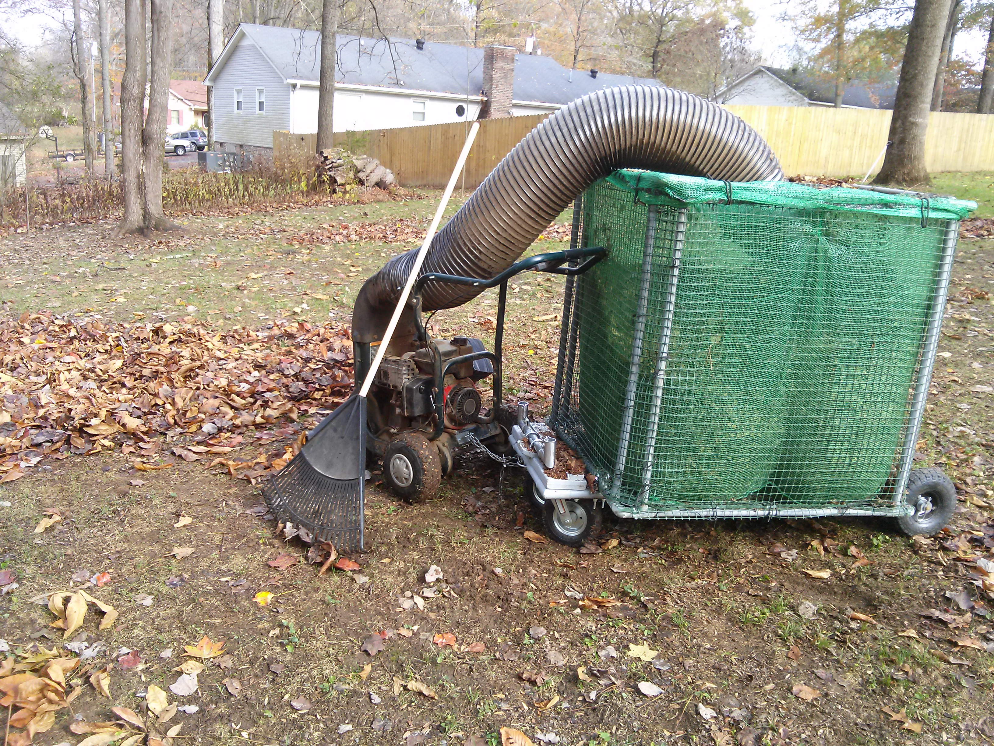Idea For Using Leaf Vac Hose Fall Clean Up