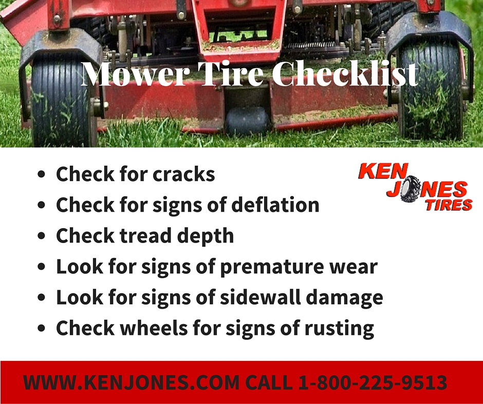 Checklist for Mower Tires