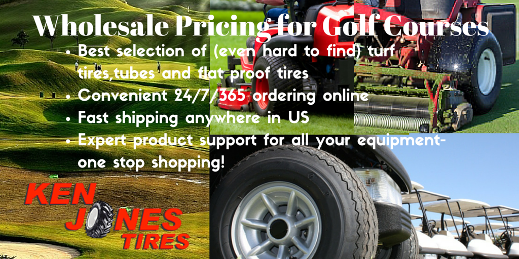 Wholesale Tire Pricing for Golf Courses & 24/7 Convenient Online Ordering