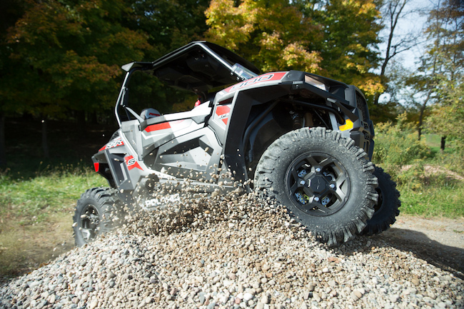 Photo of an ATV fitted with Carlisle Versa Trail ATR ATV Tires